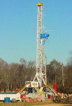 Gas Drilling rig in West Virginia